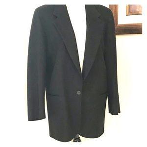 LL Bean Vintage Classic Black Wool Blazer Jacket